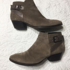 AQUATALIA Farin Brown Suede Ankle Boots Leather